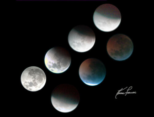 Moon 2019 Lunar Eclipse Progression