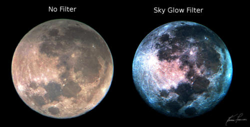 Moon Filter v NoFilter - Difference between Moon Filter and SkyGlo Light Pollution  filter.